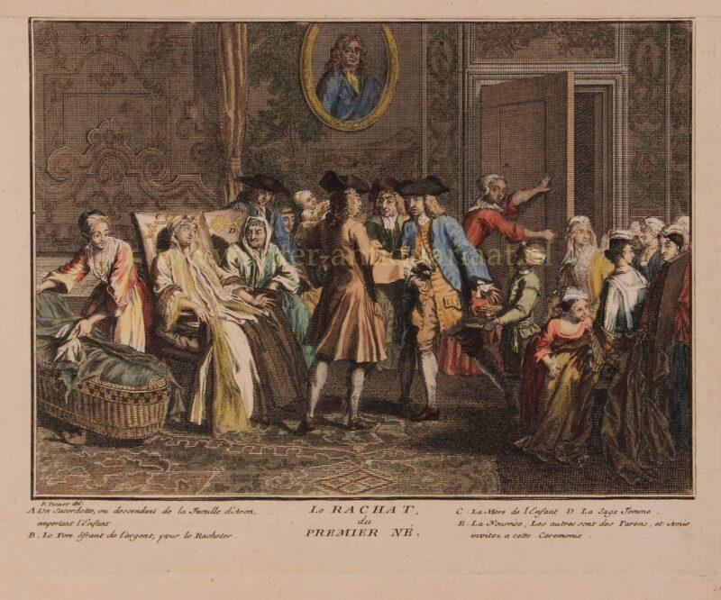 Joodse pidjon habeen ceremonie – Bernard Picard, 1725