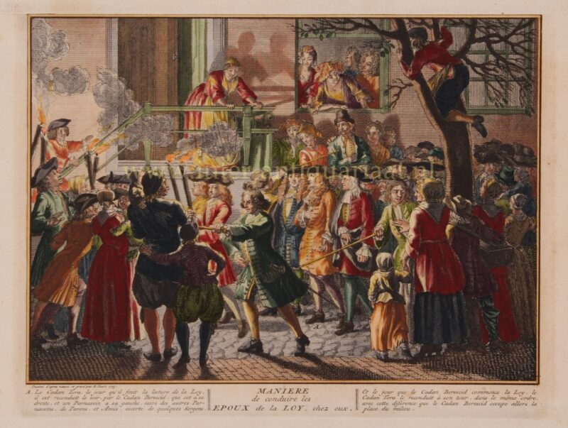 Joodse Simchat Tora viering – Bernard Picard, 1725