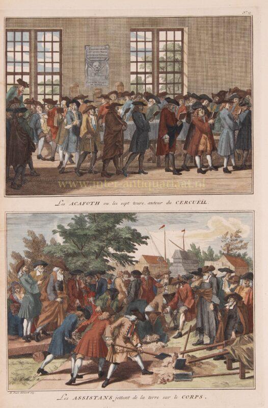 Joodse begrafenis – Bernard Picard, 1723