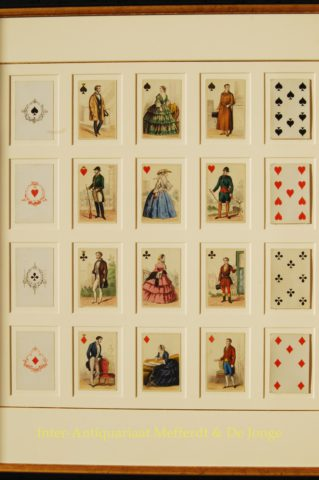antique playing cards – Gibert, c. 1860