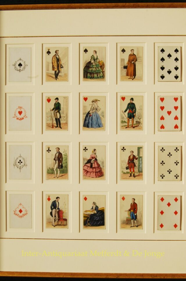 antique playing cards - Gibert