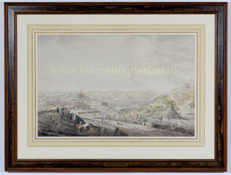 Katwijk, eerste steenlegging binnensluis Mallegat – Adriaan Hanegraaff, 1805