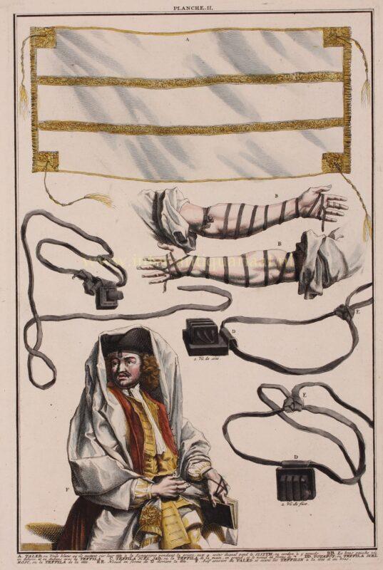 Kledij tijdens het Joods ochtendgebed – Bernard Picard, 1725