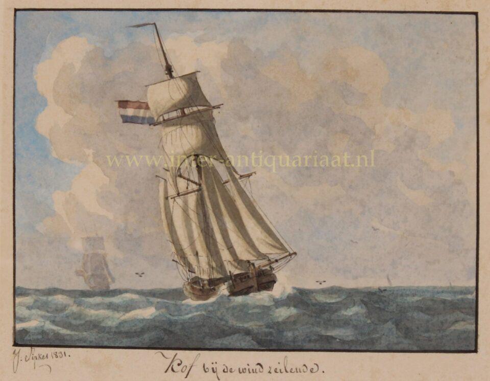 19de eeuws kofschip