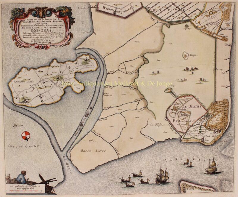 Kop van Noord-Holland, Noordkop – Joan Blaeu, 1662