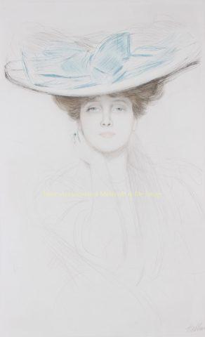 Dame met hoed – Paul César Helleu, ca. 1900