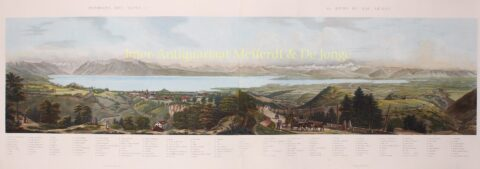19th century view of Lake Geneva