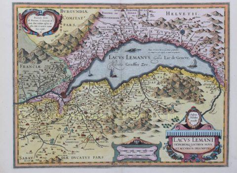 Meer van Genève – Jodocus Hondius/Johannes Janssonius, na 1630