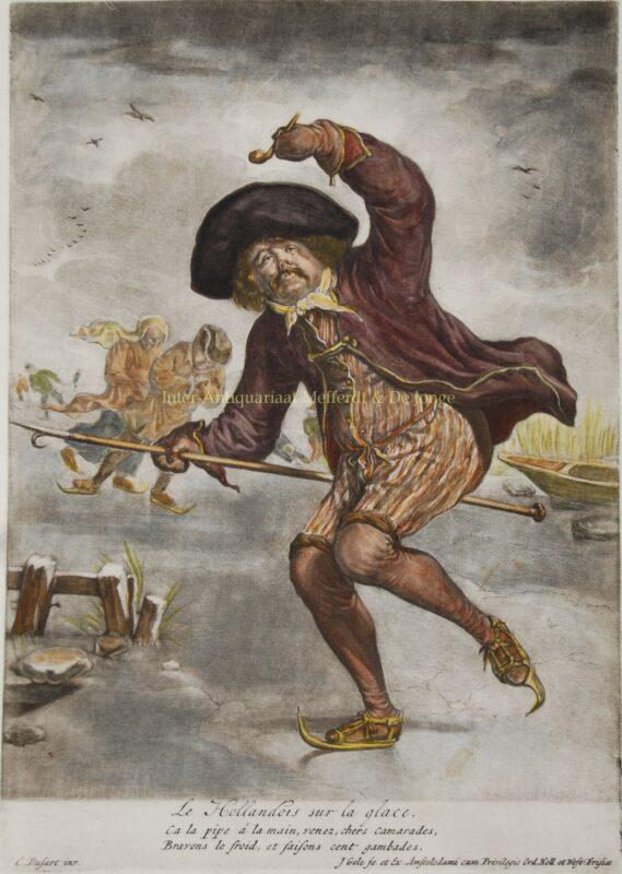 Hollandse schaatsers – Jacob Gole naar Cornelis Dusart, ca, 1700