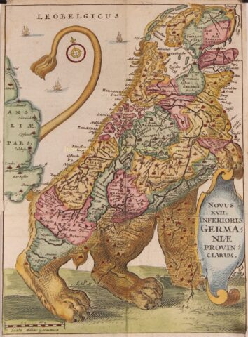 Leeuwekaart – Jacques Marcus, 1643