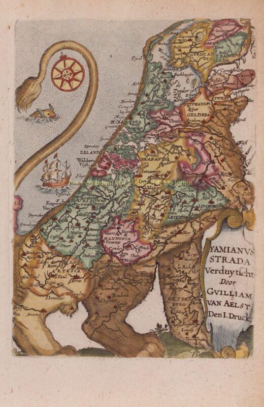Leeuwekaart – Wed. Cnobbaert, 1646