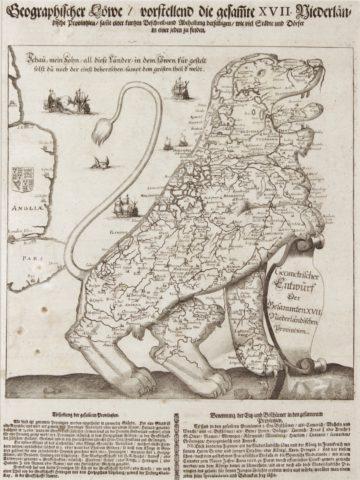 Leeuwekaart – Wilhelm Serlin, 1672