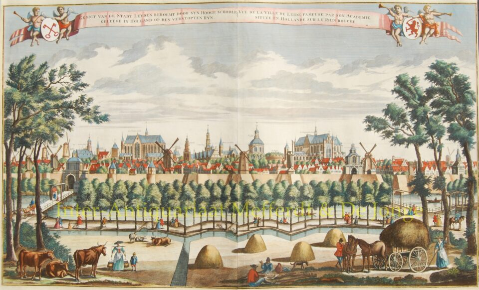 Gezicht op Leiden - Leon Schenk naar Abraham Rademaker