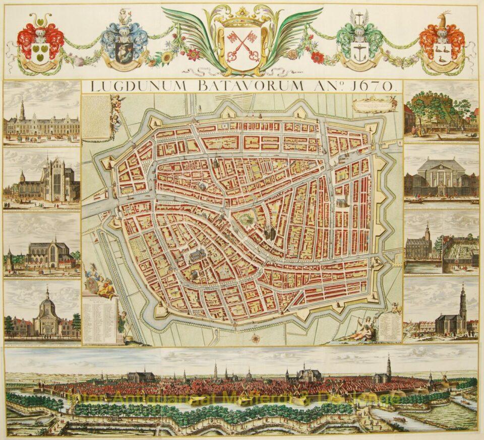 Leiden wandkaart - Christian Hagen
