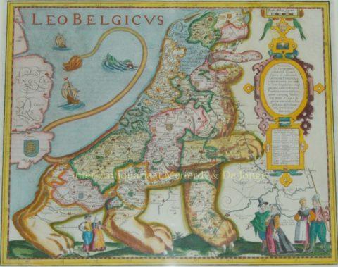 Leo Belgicus – Pieter van den Keere, 1617