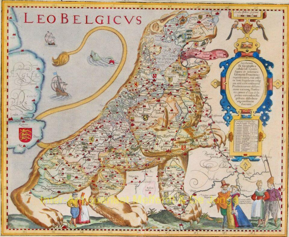 Leo Belgicus - Pieter van den Keere
