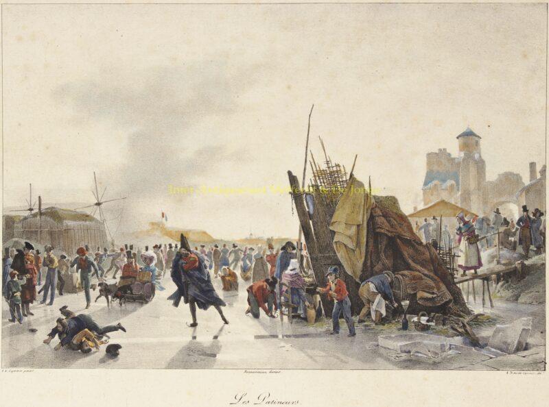 Les Patineurs –  naar Auguste-Xavier Leprince, ca. 1823