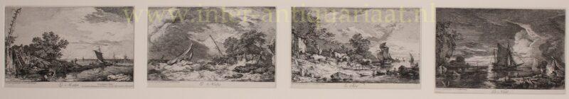 Zeegezichten, de vier dagdelen – Philippe Jacques de Loutherbourg, 1764