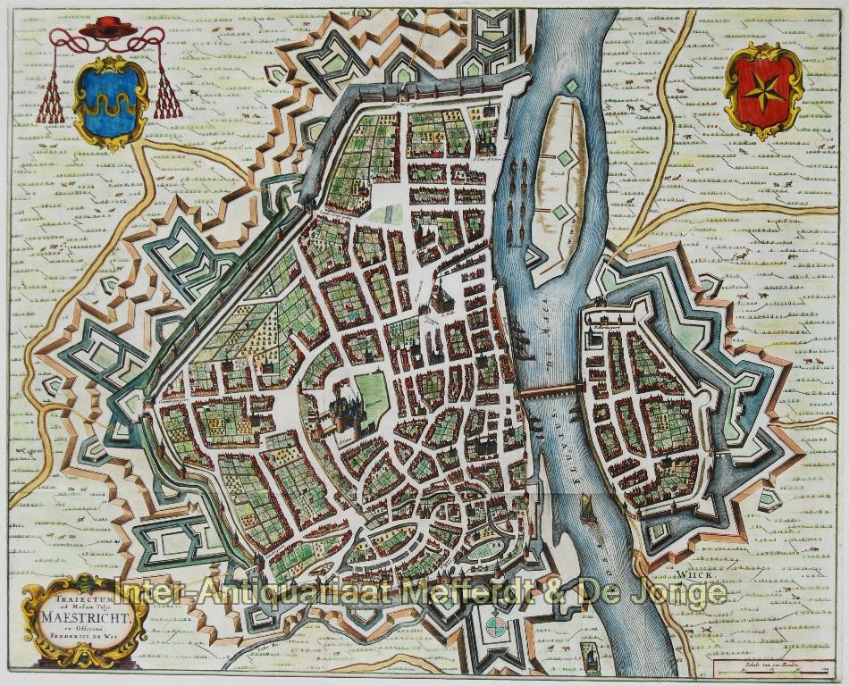 Maastricht antieke plattegrond - De Wit