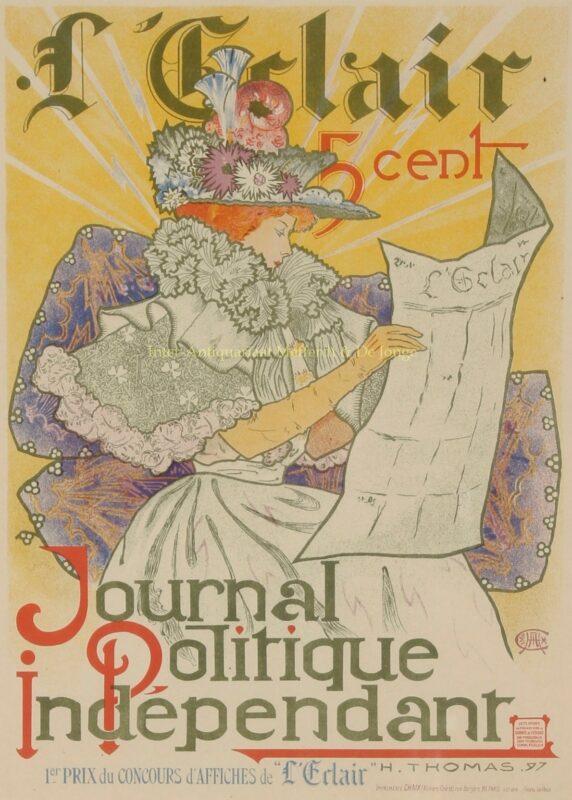 """L'Eclair – Journal Politique Indépendant"" – Henry Atwell Thomas, 1897"