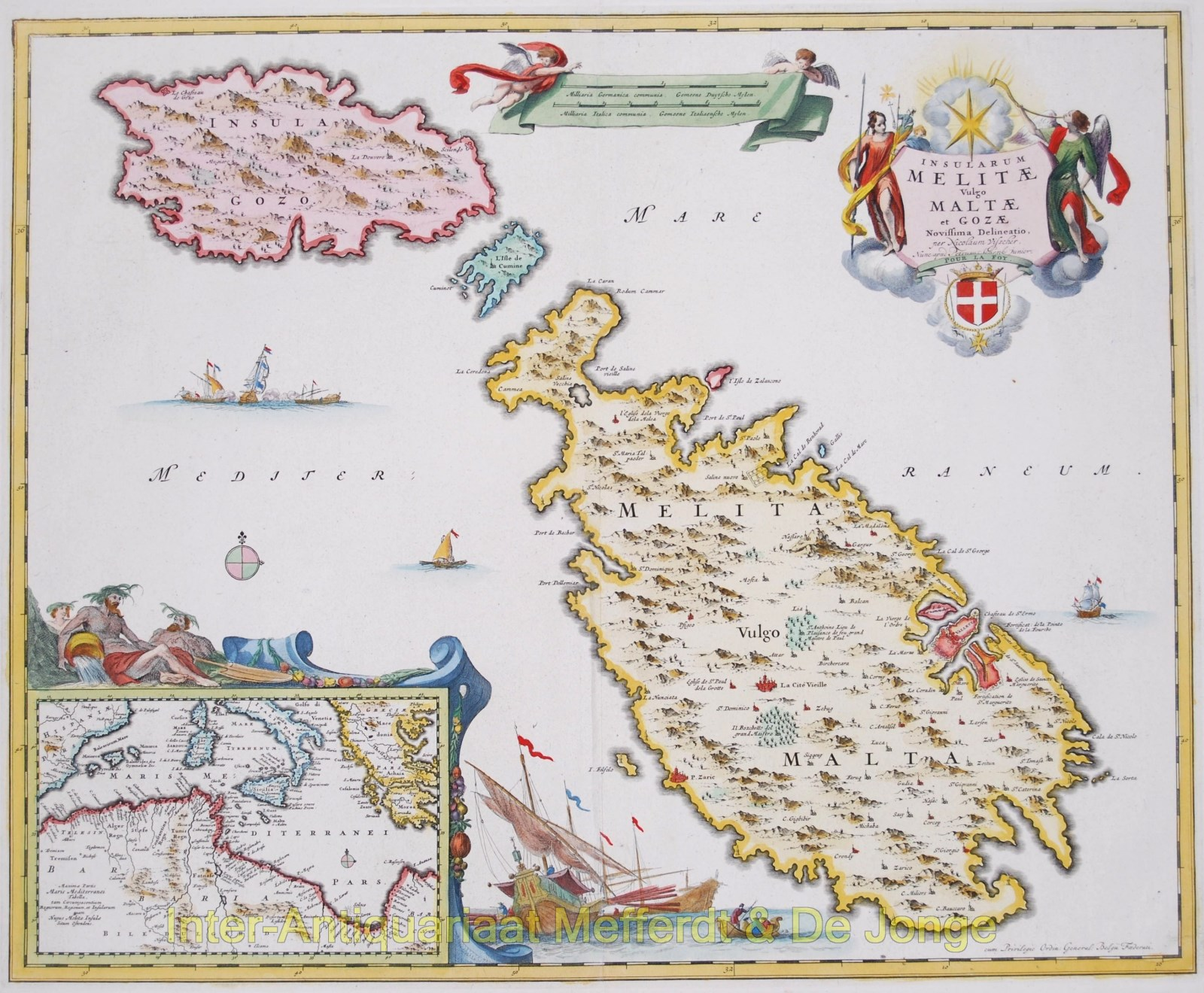 Malta and Gozo map - Visscher