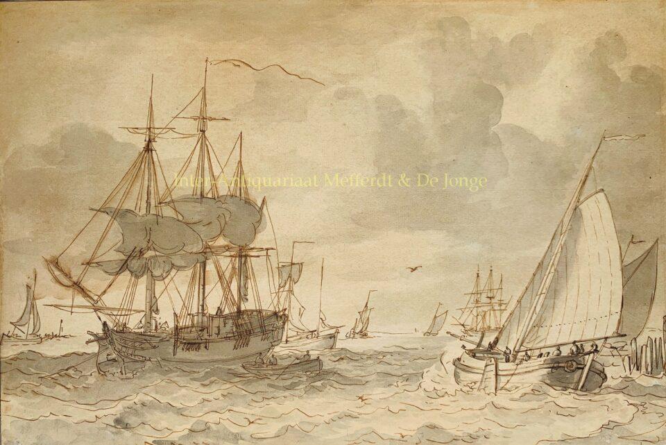Gerrit Groenewegen maritieme tekening