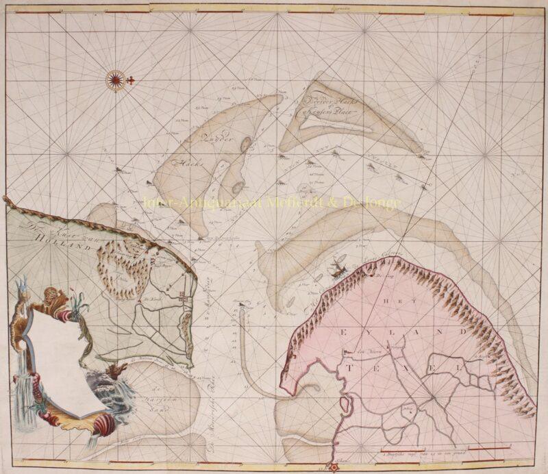 Marsdiep, Texel – Johannes van Keulen en Zoonen, ca. 1782
