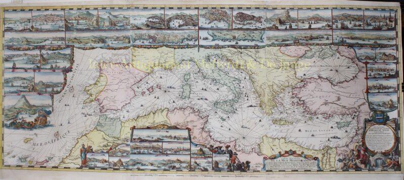 Middellandse Zee – Romeijn de Hooghe + Pieter Mortier, 1694