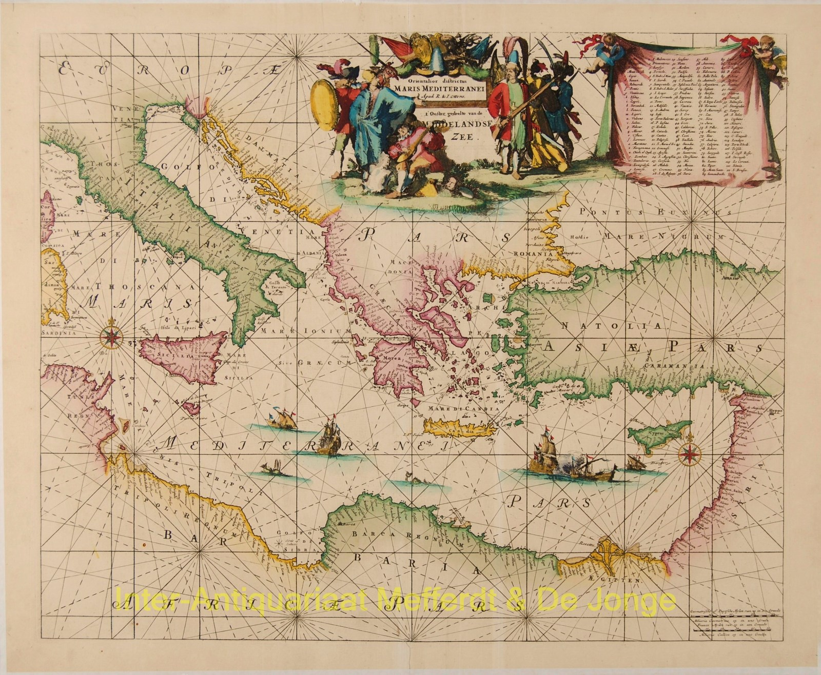 Mediterranean (eastern), antique sea chart - Ottens