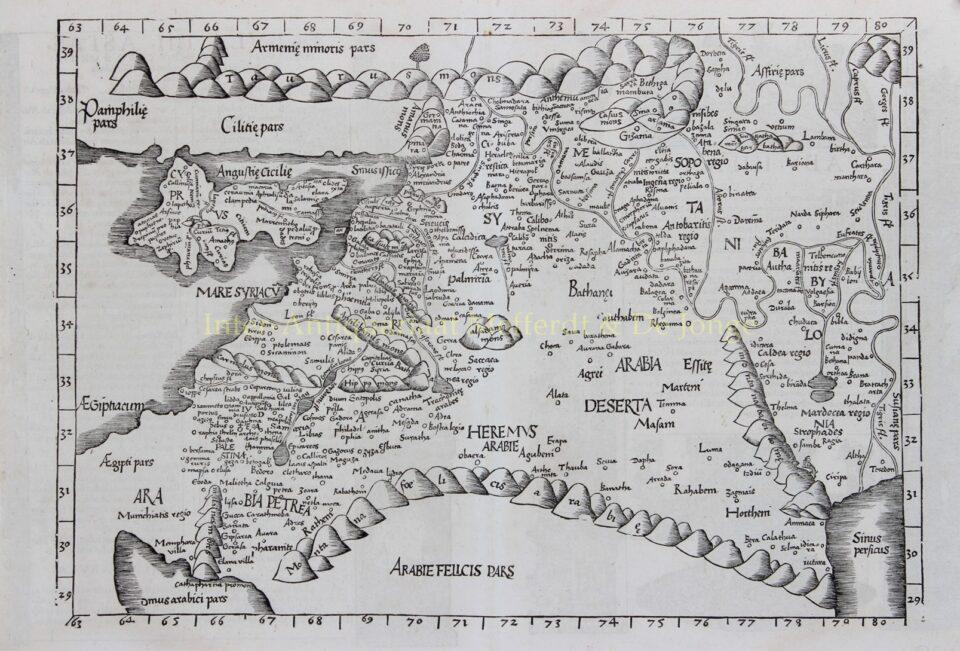 Middle East - Laurent Fries/Johannes Grüninger after Claudius Ptolomeus