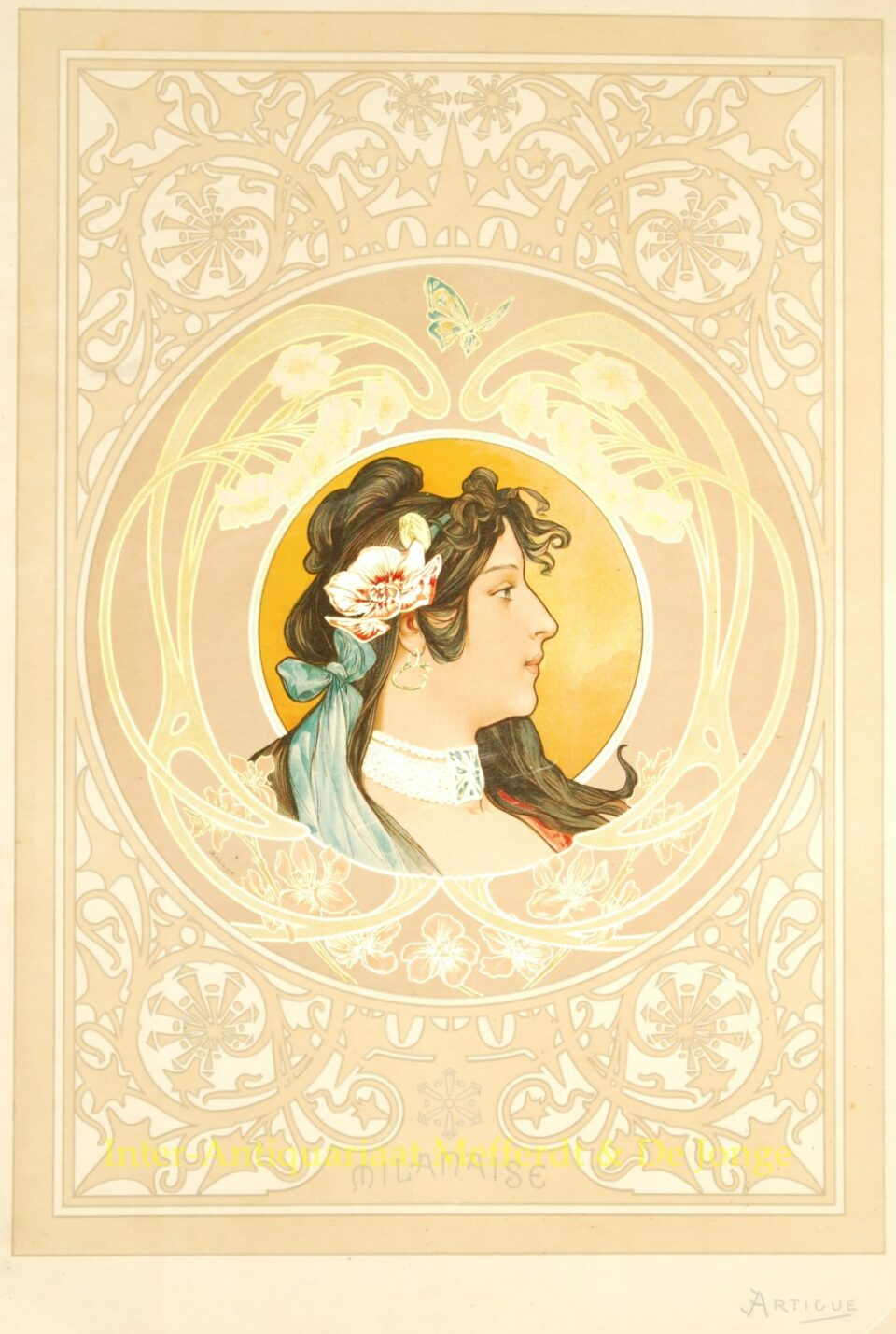 Art Nouveau poster - Milanaise