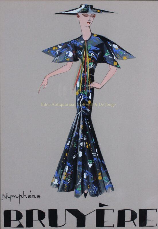 Modetekening – Marie-Louise Bruyère, jaren 1930