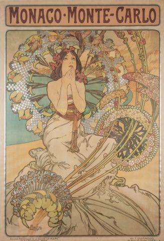 """Monaco – Monte Carlo"" – Alphons Mucha, 1897"