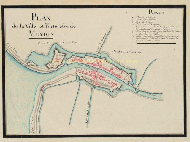 manuscript kaart Muiden