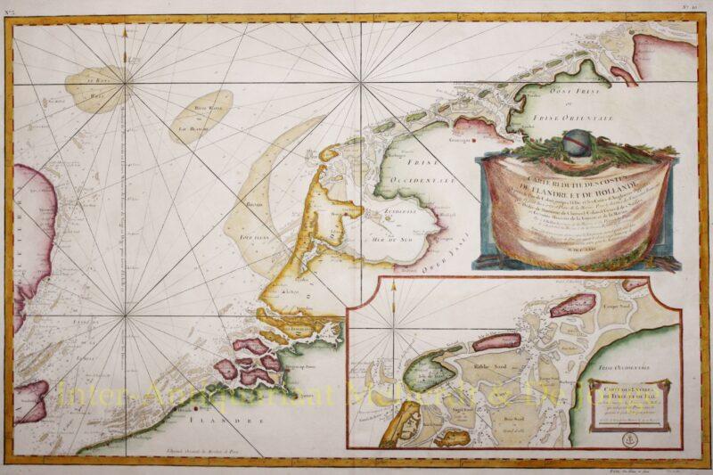 Zeekaart Nederlanden, 1763