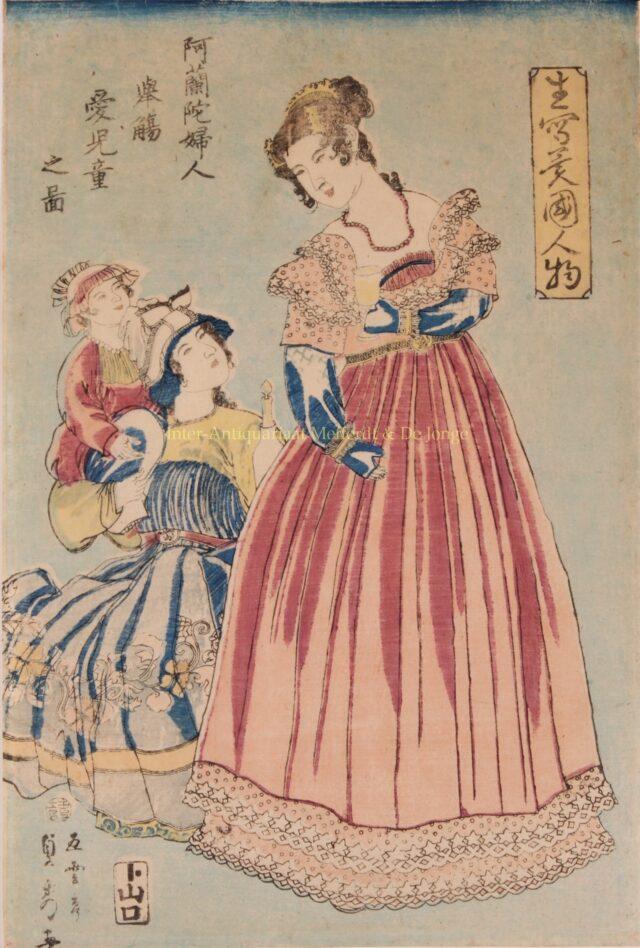 Japanse houtsende van Nederlanders in Japan rond 1860