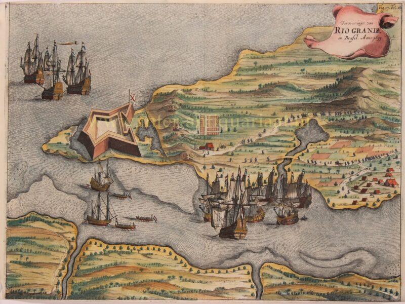 Nederlands Brazilië – Johannes Janssonius, 1651