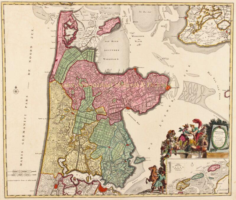 Noord-Holland en West-Friesland – Renier en Josua Ottens, ca. 1740