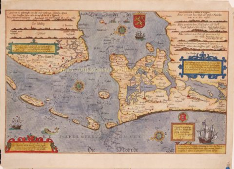 Noordzee, Zuiderzee – Lucas Jansz. Waghenaer, ca. 1590