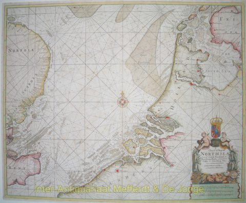 North Sea antique chart – Mount and Page