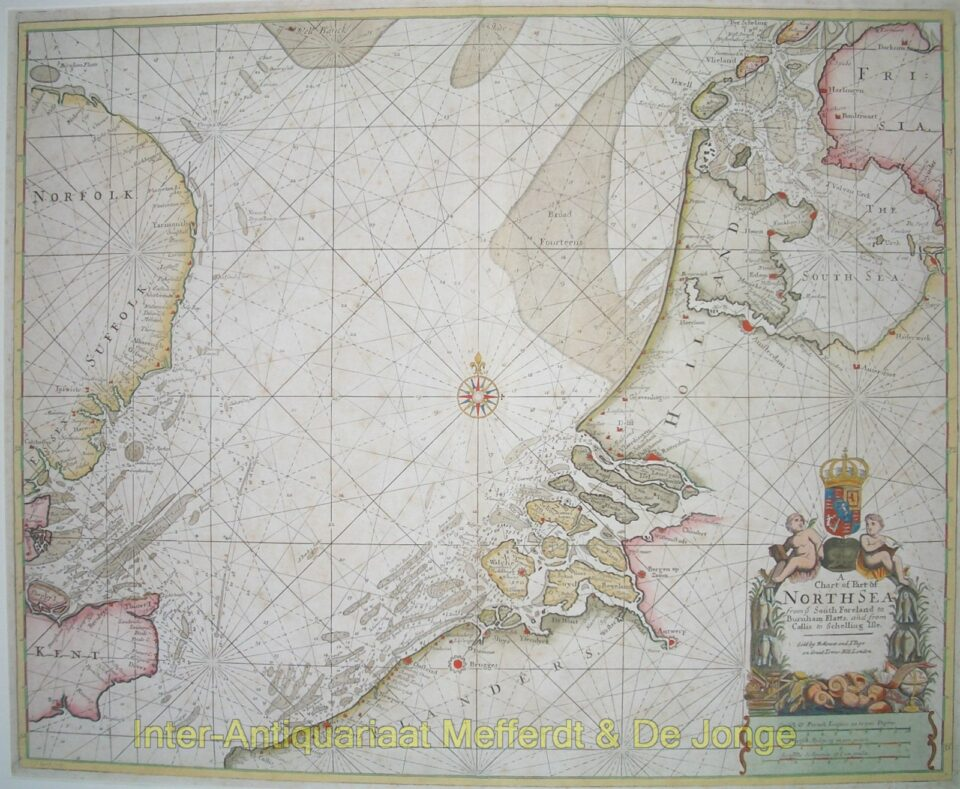 North Sea antique chart - Mount and Page