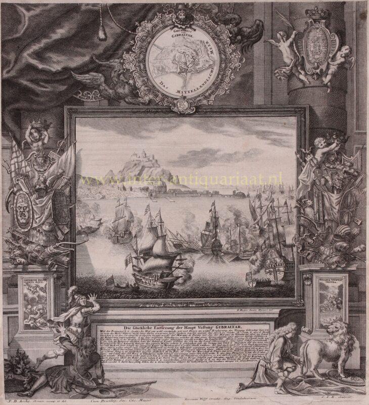 Ontzet van Gibraltar – Kleinschmidt naar Paul Decker, 1705