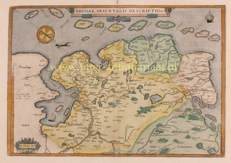 Oost Friesland (Ostfriesland) – Abraham Ortelius, 1587