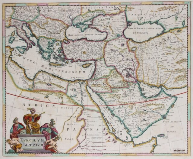 Ottoman Empire map - Frederick de Wit