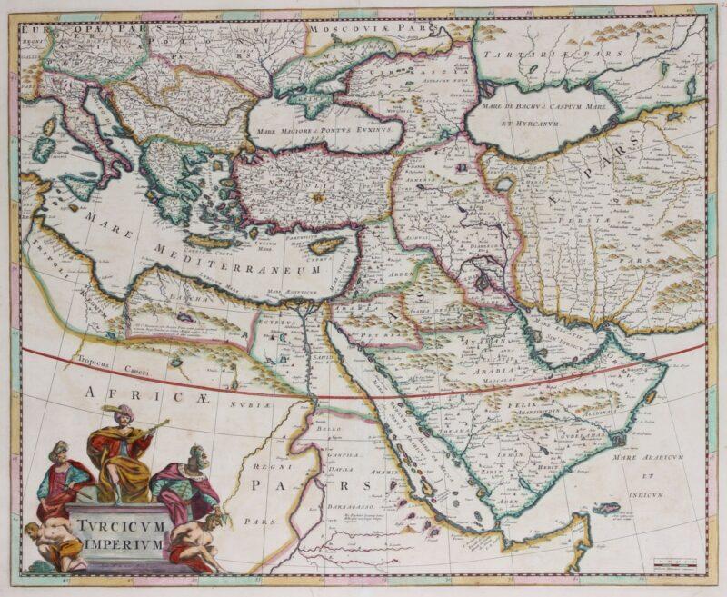 Ottoman Empire map – Frederick de Wit, c. 1680