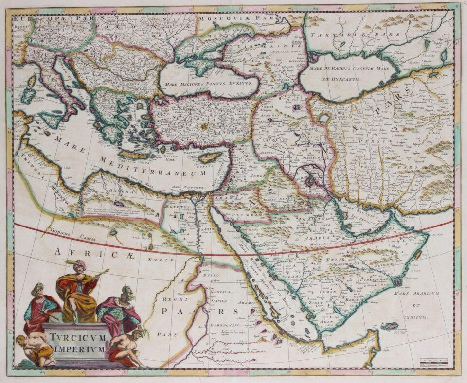 Ottoman Empire map - Frederick de Wit