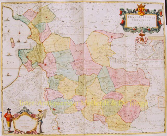 Wandkaart Overijssel Nicolaas ten Have