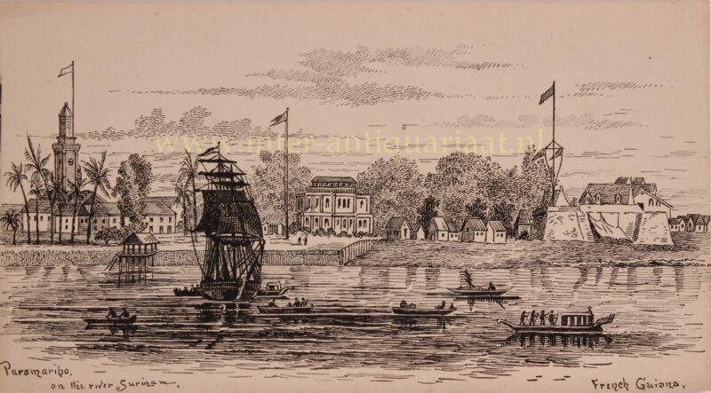 Paramaribo, Waterkant, Fort Zeelandia – Alfred Bowyer Clayton, ca. 1840