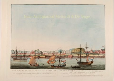 Paramaribo, Waterkant met Fort Zeelandia – Pierre Beranger, 1817