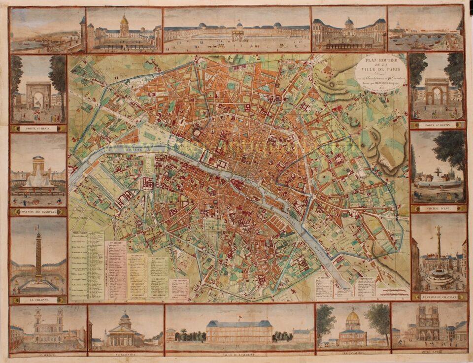 plan of 19th century Paris